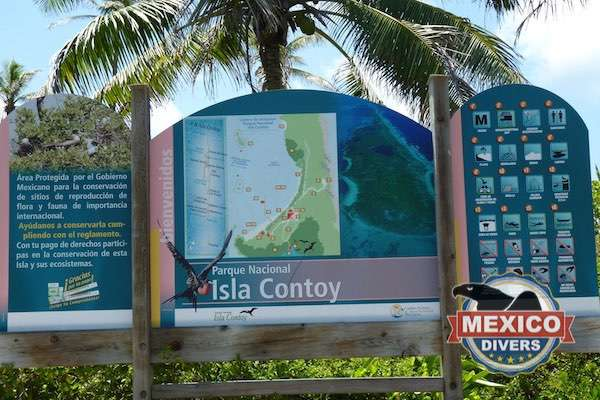 Contoy Island Welcome Sign